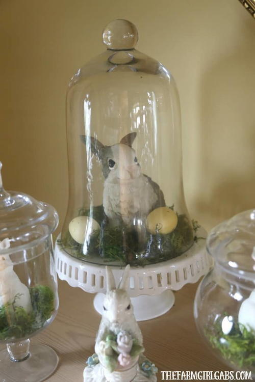 Diy Spring Bunny Jar Display