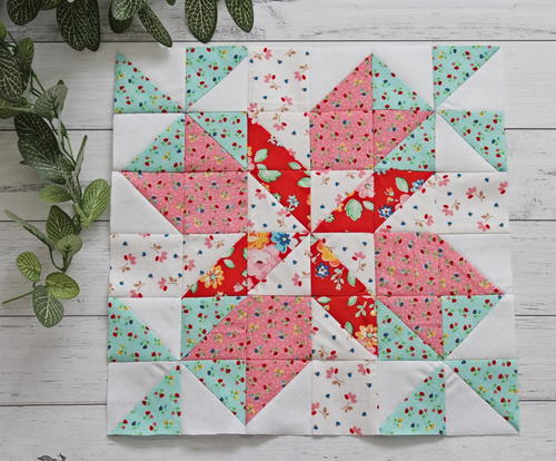 Spring Breeze 12 Inch Quilt Block Pattern | FaveQuilts.com