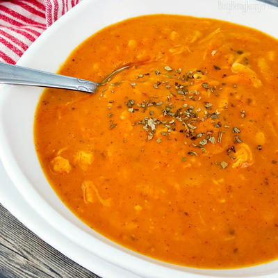 Tomato Chicken Orzo Soup