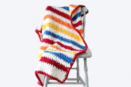 Stripey Days Baby Blanket