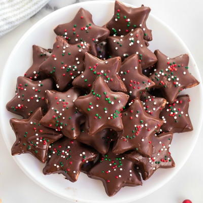 Dark Chocolate Stars – Shortbread Cookie Recipe