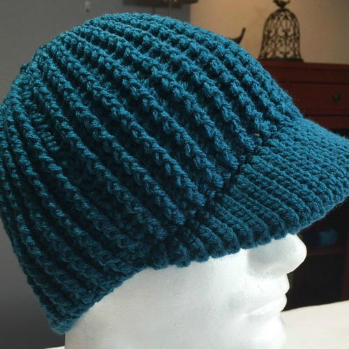 Ribbed Messy Bun Hat