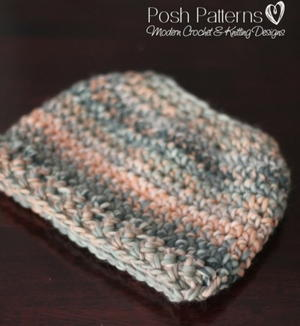 Easy Crochet Messy Bun Hat Pattern