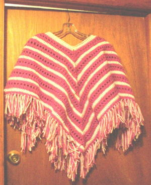 Child's Striped Poncho