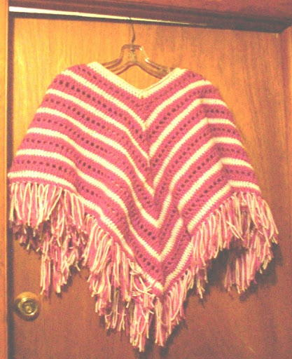 Childs Striped Poncho