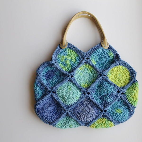 Sea Glass Crochet Bag