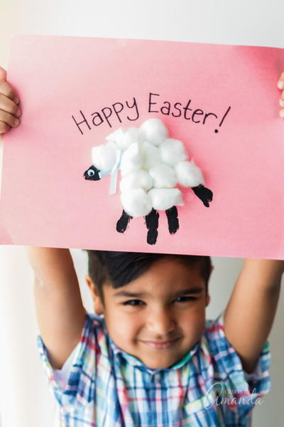 Handprint Easter Lamb