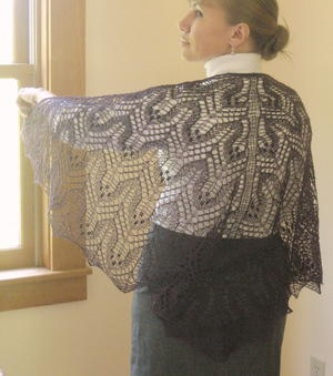 StellaLuna Knit Lace Shawl Pattern