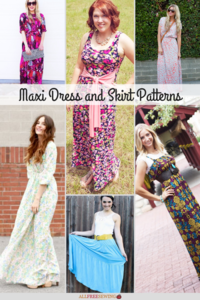 30+ Maxi Dress Patterns + Maxi Skirts to Sew