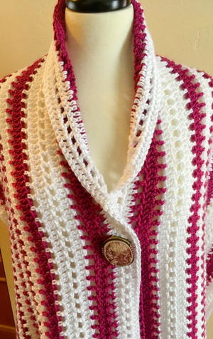 Blushing Beauty Shawl Crochet Pattern