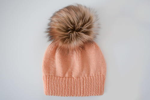 Ribbed Double Brim Knit Hat