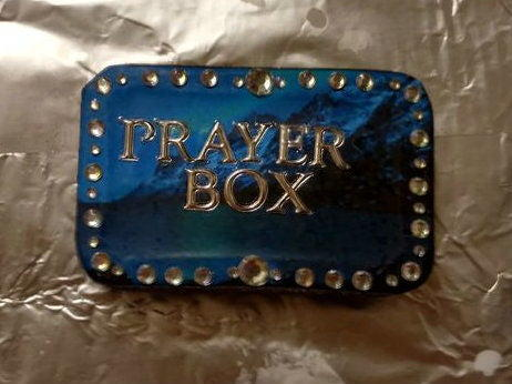 Midnight Blue Prayer Box