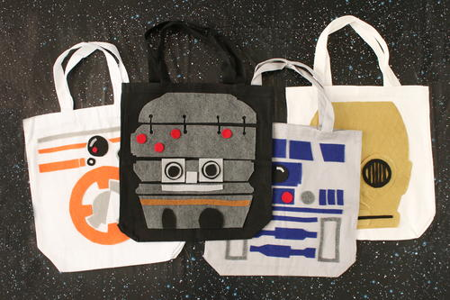 Star Wars Droid Tote Bags