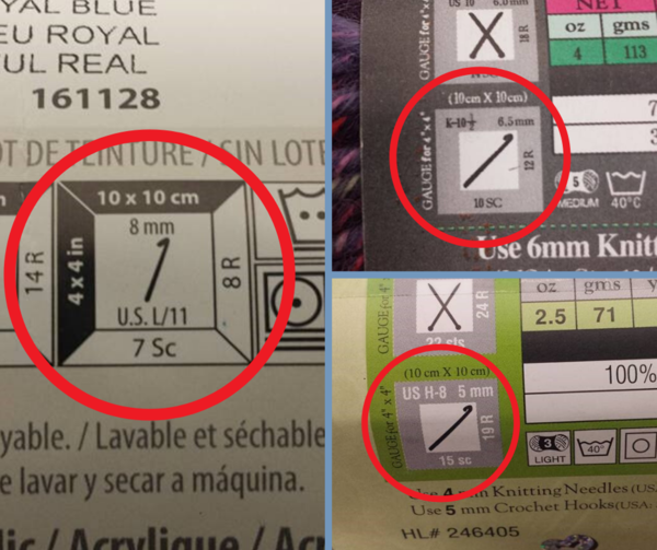 Finding and Understanding Yarn Label Gauge