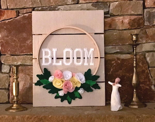 Bloom Embroidery Hoop Art