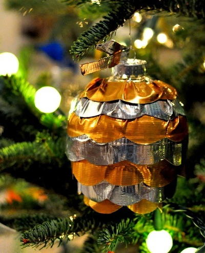 Duct Tape Ruffle Ornament
