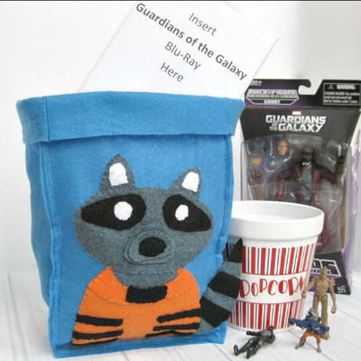 Diy Rocket Raccoon-inspired Gift Bag & Organizing Bin