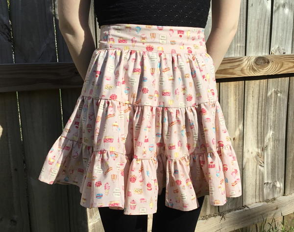 Strawberry Cream Tiered Apron