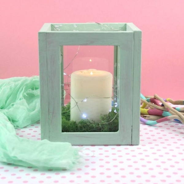 Upcycled Frames to Cute Lantern