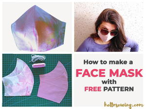 How To Sew A Face Mask With Filter Insert Pocket