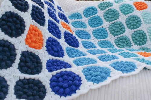 Bobble Pop Crochet Blanket