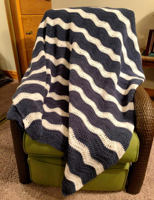 Gentle River Ripple Blanket