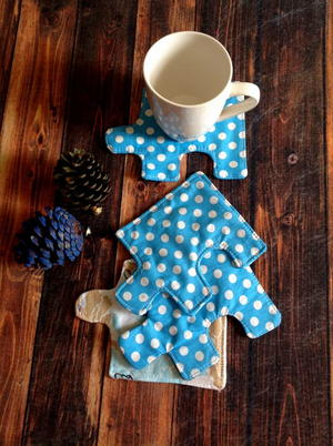 Jigsaw Puzzle Coaster Sewing Pattern
