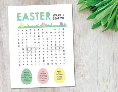 Free Printable Easter Word Search