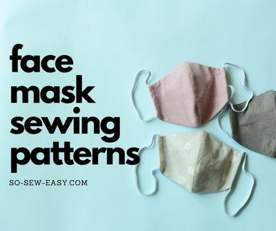 Super Simple Face Mask Pattern For Adults And Kids