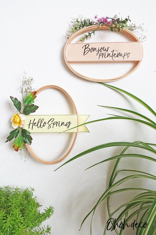 Easy 10 Minutes Spring Wreath