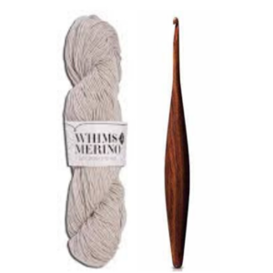 Ebony Ergonomic Wooden Crochet Hook and Whims Merino Yarn Giveaway