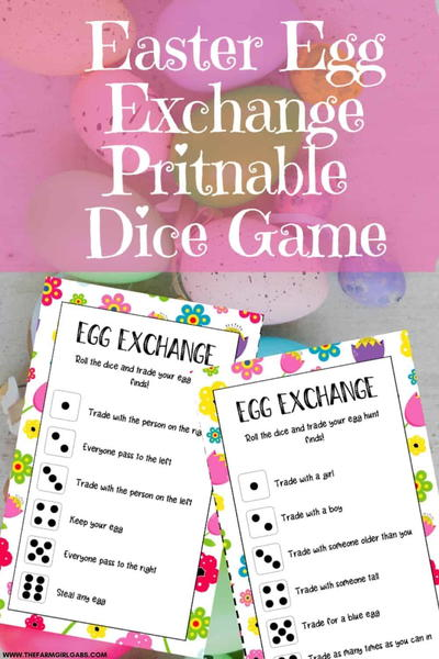 Easter Egg Exchange Dice Game