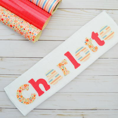 How To Make A Burp Cloth With Baby's Name On It
