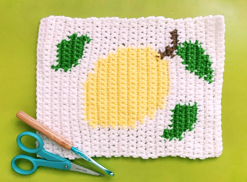 Stitch Away Stress Lemon Blanket Square