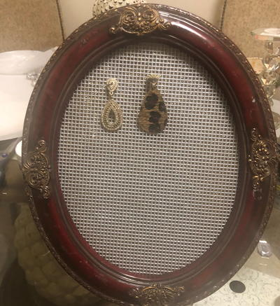 Ornate Picture Frame Earring Holder