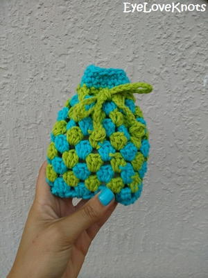 Granny Square Soap Cozy (or Small Gift Bag)