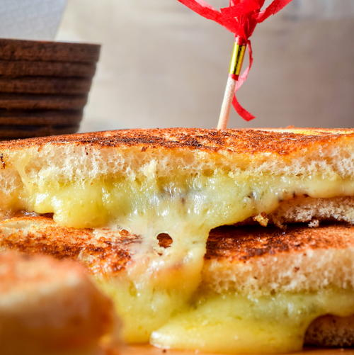 Electric Skillet Grilled Cheese Sandwiches
