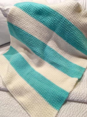 How To Crochet The Linen Stitch Baby Blanket