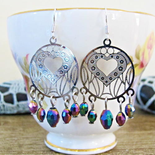 Diy Sparkly Chandelier Earrings