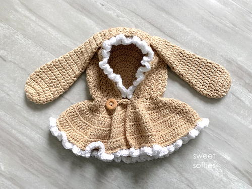 Cute Baby And Toddler Hooded Bunny Capelet