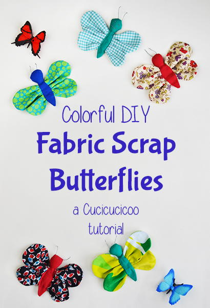 Scrap Fabric Butterflies