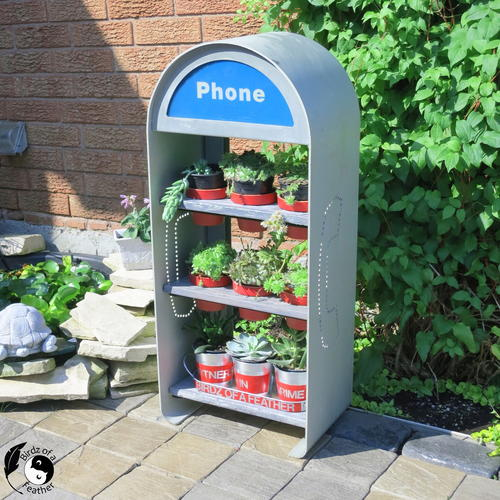 Phone Booth Planter