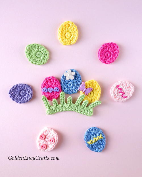 Crochet Easter Egg Applique