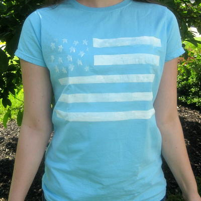 Easy Painted Flag Tee