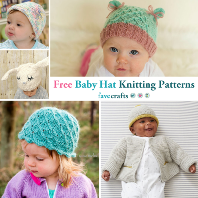 28 Free Baby Hat Knitting Patterns   FaveCrafts.com