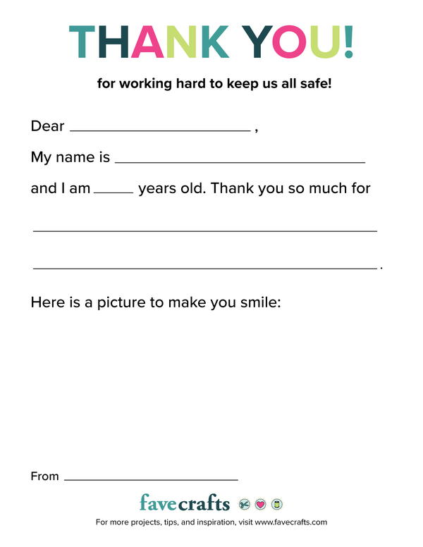 Printable Gratitude Letter to share with essential workers