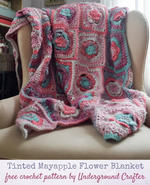 Tinted Mayapple Flower Blanket