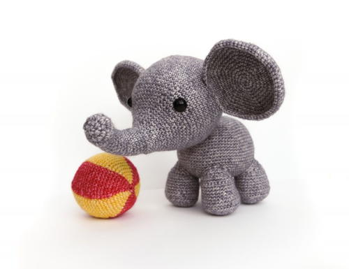 Tiny Circle Chubby Crochet Elephant /amigurumi Crochet Animals ... | 385x500