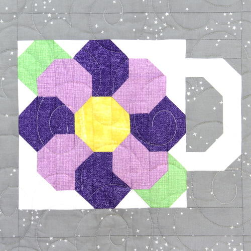 May Flower - Months Of Mugs Block Of The Month