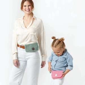 Parent and Child Crochet Belt Bags Pattern